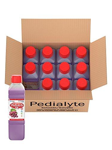 Pedialyte | 60 mEq Solución Oral para Deshidratación por Vómito y Diarrea | Uva | 500 mL | 12 piezas