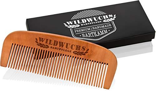 Pettine da barba in legno di pero di alta qualità lavorato a mano di Wildwuchs per lo styling della barba, naturale - scontato - antistatico - Regalo per lui