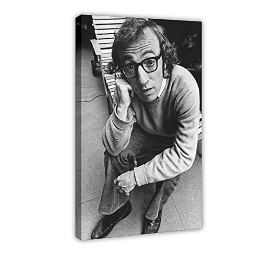 Attore Woody Allen, poster su tela, decorazione da parete, per soggiorno, camera da letto, 50 x 75 cm, telaio