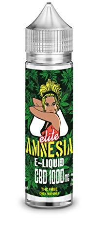 Amnesia Elite cbd 1000mg 50ml sabor de maryiuana con terpenos naturales - Liquido para cigarrillo electronico E-liquid SIN NICOTINA no nicotina no tabaco