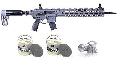 IN THE BOX: 1 x Sig Sauer AIRGUN, VIRTUS ASP, .22 CALIBER, GREY, PRECISION RIFLE (AIR-VIRTUS-22), 2 x Sig Sauer AIRGUN, VENOM PELLET, .22 CAL, ROUND, LEAD, 14.5GR, 250CT, BLISTER PACK (AIR-AMMO-VPB-22) The MCX VIRTUS PCP air rifle is the latest expan...