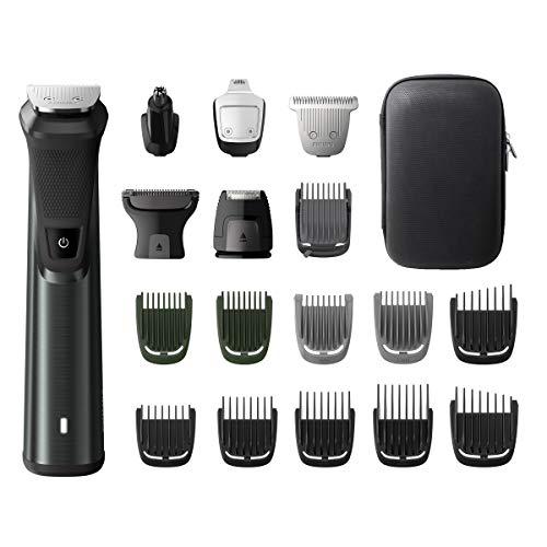 Philips Multigroom MG7785/20 - Rasoio per barba, peli del corpo, peli delle orecchie e del naso,...