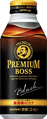 サントリー コーヒー プレミアムボス ブラック 390g ボトル缶×24本