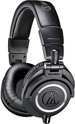 Audio-Technica ATH-M50x Professional Studio Monitor Headphones, Black, Professional Grade