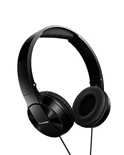 Pioneer MJ503 Cuffie On-Ear con cavo (qualit audio elevata e bilanciata, archetto imbottito, pieghevole e facile da trasportare, certificato per iPod, iPhone e iPad), nero