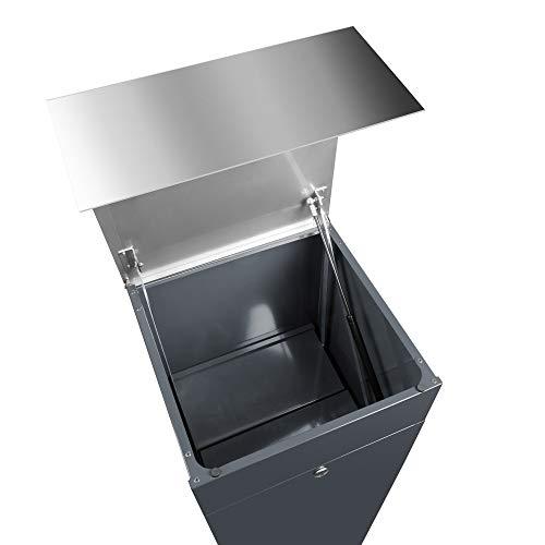 frabox Design Paketkasten Namur Edelstahl/Anthrazitgrau - 5