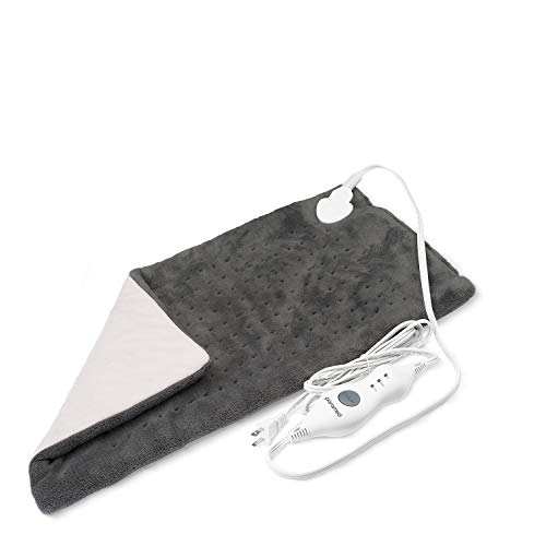 Heating Pad XL King Size by Paramed - Extra Large 12 x 24 - Dry Heat Therapy Functions & Auto Shut-Off - for Neck, Back, Shoulder, Menstrual Pain & Sore Muscle Relief - Washable
