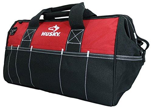 Husky 82003N11 18' Water-Resistant Contractor/DIY Tool Bag with Shoulder...