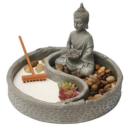 Nature's Mark, Mini Meditation Zen Garden Table Decor Kit, 6 x 6...