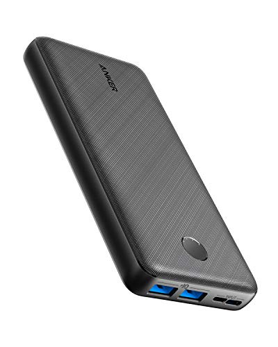 Anker Power Bank, PowerCore Essential 20000 Portable Charger with PowerIQ Technology and USB-C (Input Only), High-Capacity Battery Pack Compatible with iPhone, Samsung, Huawei, iPad, and More.