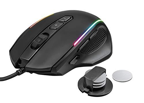 Trust Gaming GXT 165 Celox Souris gamer de jeu, 200 - 10.000 dpi, 8 Boutons Programmables, Led Lumineuse - Noir