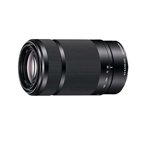 Sony SEL-55210 Tele-Zoom-Objektiv (55-210 mm, F4.5–6.3, OSS, APS-C, geeignet für A6000, A5100, A5000 und Nex Serien, E-Mount) schwarz