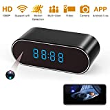 Spy Camera, 1080P Hidden Camera Clock WiFi Video Recorder 140 Wide Angle Lens Wireless IP Cameras for Indoor Home Security Monitoring Nanny Cam with Night Vision Motion Detection Upgraded APP