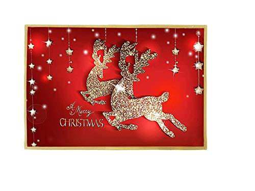 Navidad Antideslizante Felpudo,Felpudos Lavables,Felpudo para Entrada,Felpudos Entrada Casa,Alfombrilla de Baño,Alfombras de Decoracion,Navidad Home (B)