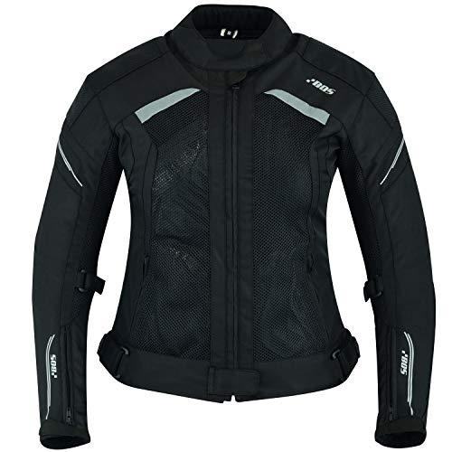 BOS Damen Motorrad Jacke Motorradjacke Textil (XL, Aylin Schwarz)