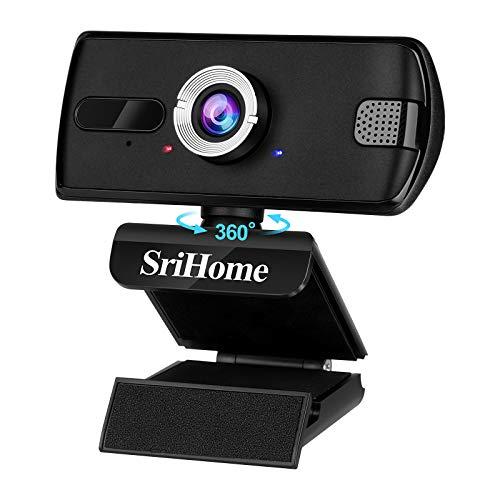Webcam PC con Microfono ENONEO 110° Grandangolo Webcam HD 1080P/1536P Spina & Giocare USB 2.0/3.0 Streaming Web Camera PC Fisso per Videochiamate, Conferenza, Gioca a Giochi Telecamera Computer (Nero)