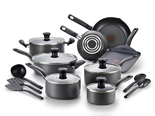 T-fal FBA_A821SI64 Initiatives Nonstick Inside and Out, 0, Black