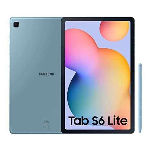"""SAMSUNG Galaxy Tab S6 Lite - Tablet de 10.4"""" (WiFi, Procesador Exynos 9611, RAM de 4GB, Almacenamiento de 64GB, Android 10) - Color Azul [Versión española]"""