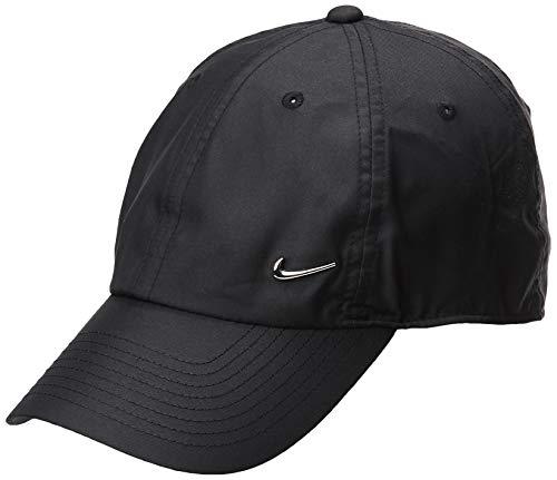 Nike H86 cap Metal Swoosh, Berretto da Baseball Unisex Adulto, Nero/Argento, Taglia unica