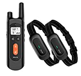 NVK Dog Training Collar - 2 Receiver Rechargeable Collars for Dogs with Remote, 3 Training Modes, Beep, Vibration and Shock, Waterproof Training Collar