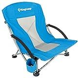 KingCamp Camping Chaise de Plage Pliante Fauteuil d'Extérieur à Élingue Basse Bas Dossier en Maille Deux Modes pour Randonnée Pique-Nique Pêche Plage Jardin