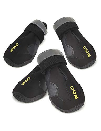 GGR Dog Shoes Pet Boots 4 Pcs Outdoor Waterproof...