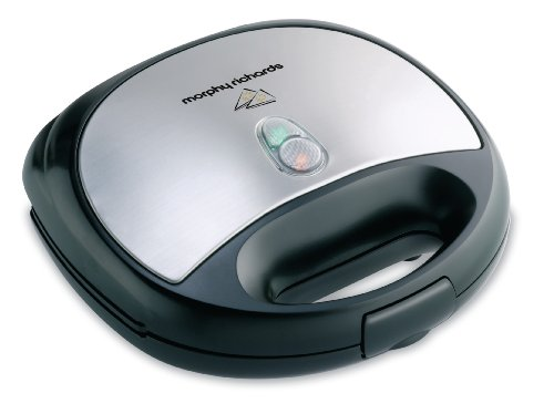 Morphy Richards SM3006(G) 750-Watt Grill Sandwich Toaster (Silver and Black)