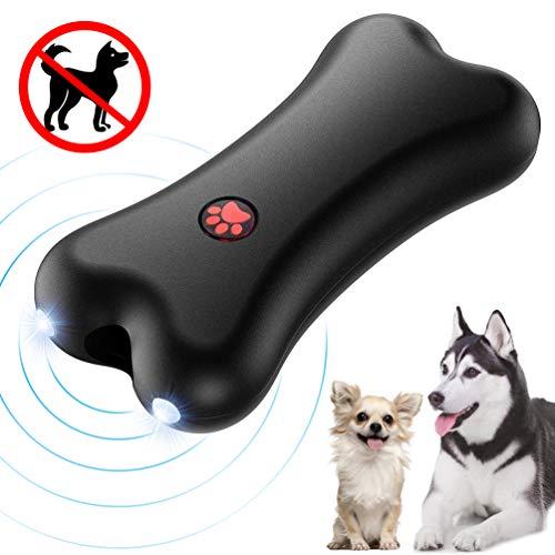 Petacc Anti-Bell-Gerät für Hunde, Ultraschall Anti-Bell-Mittel für Hunde Bellkontrolle 100{31be0bec0b50acdae4b2c38785cdfeee2ce6aab084c7cfec9b79163d54b10772} Sicher, Handheld Trainingsgerät für Hunde im Freien, 5 Meter Regelbereich Wiederaufladbarer mit LED-Licht