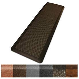 Kitchen Mat   Anti Fatigue Mat, 5/8 Thick   Ergonomically Engineered, Non-Slip, Waterproof   20'x39' - Dark Brown