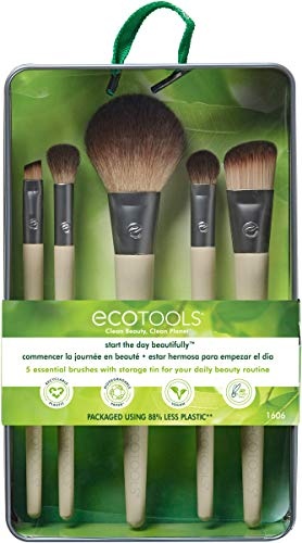 EcoTools® Start the Day Beautifully - Juego de brochas de maquillaje
