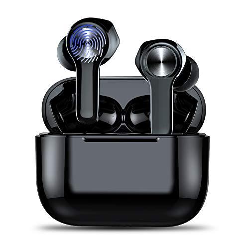 Cuffie Bluetooth, Auricolari Wireless Bluetooth Senza Fili In Ear Earbuds con Hi-Fi Stereo, Microfono Integrati, 40 Ore di Tempo di Utilizzo, IP7 Impermeabile, Latenza Bassa, Cuffie Sport per Running