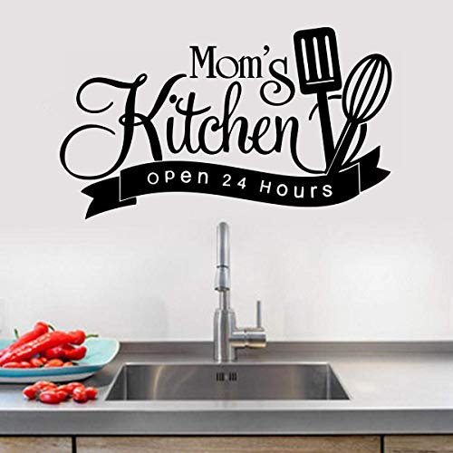 VVWV Mom is Kitchen Quote Modern Art' Wall Sticker Always Fresh sea Food Wall Sticker Living Room Home Decoration Bedroom Kids Room Office (Size -55cm x40 cm)