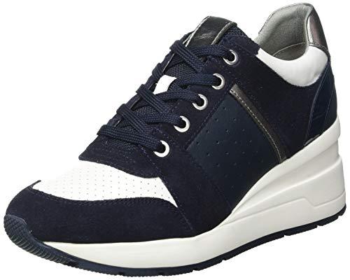Geox D ZOSMA A, Zapatillas Mujer, Azul Marino, 40 EU