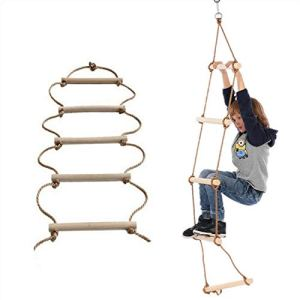 ISOP-IndoorOutdoor-Rope-Ladder-81524ft--Sturdy-Exercise-Rope-Ladder--Climbing-Hanging-Rope-for-Kids-Adults--Rope-Ladder-for-Swing-Set