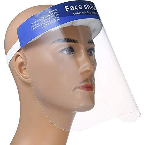 unisex Face Shields Outdoor Protection Dust Prevention Blue 10 Pieces