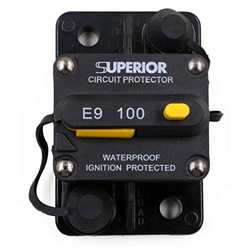 T Tocas 100 Amp Circuit Breaker with Manual Reset, 12V- 48VDC, Waterproof (100A)