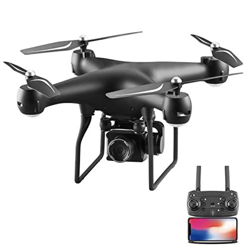 FMHCTN Drone con Telecamera PTZ ESC 4K, Trasmissione Live FPV WiFi, Elicottero quadricottero RC, Volo di 25 Minuti, Ritorno Automatico, Fotografia Aerea 1080, Mantenimento dell'altitudine Nero