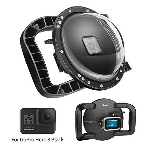 SHOOT Porta Dome con stabilizzatore a Doppia Impugnatura per GoPro Hero 8 Action Camera Design Generale, Funzionamento conveniente, Impermeabile Fino a 45 m / 147 Piedi