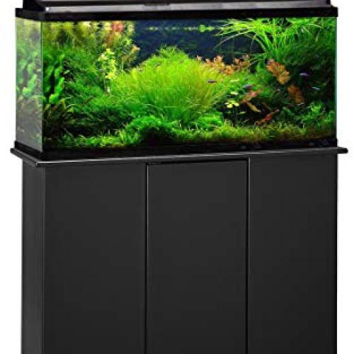 Aquatic Fundamentals, 30/38/45 Gallon, Black Upright Aquarium Stand, Made in The USA