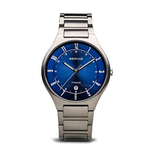 BERING Herren-Armbanduhr Analog Quarz Titan 11739-707