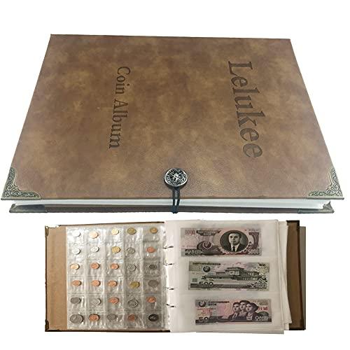 Lelukee Porte-Monnaie pour collectionneurs, Album de Papier-Monnaie pouvant...