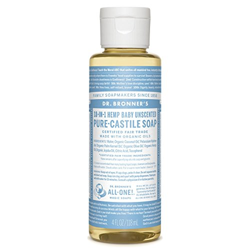 Dr. Bronners - Pure-Castile Liquid Soap (Baby Unscented, 4 Ounce)