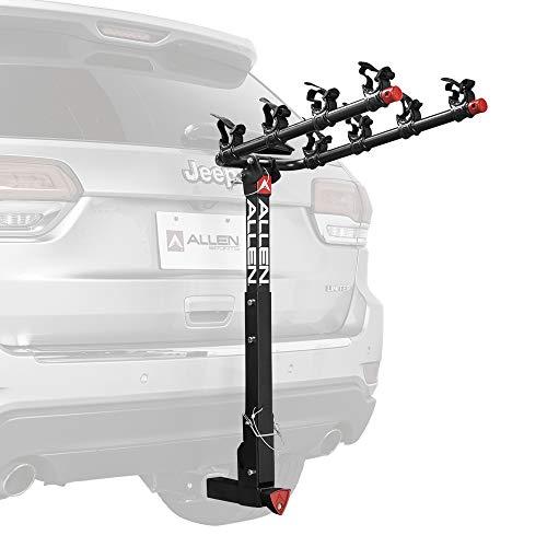 Allen Sports Deluxe Locking Quick Release 4-Bike Carrier for 2' Hitch, Model 542QR, Black