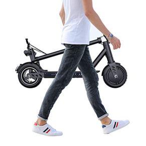 Scooter Electrico Adulto,Plegable Patinete Eléctrico,Velocidad Máx 20 km/h,350 Vatios,Batería 36V,con Pantalla de…