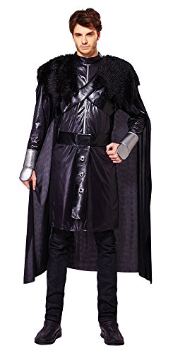 Disfraz de caballero negro de Bristol Novelty AF025, contorno de pecho 107-112cm