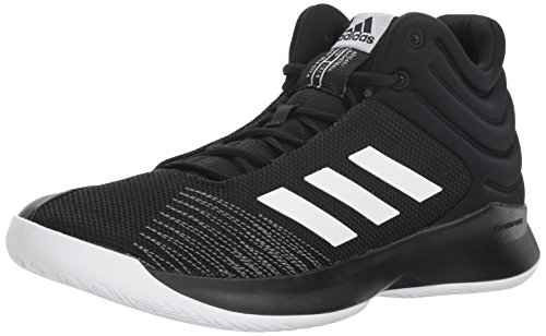 adidas Men's Pro Spark 2018 Basketball Shoe, Black/White/Grey, 8.5 M US