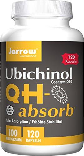 Q10 QH-absorb, 100 mg, Coenzym Q10 nicht oxidiert, Ubichinol, reduzierte Form, 120 Weichkapseln, optimal bioverfügbar, Jarrow Deutschland