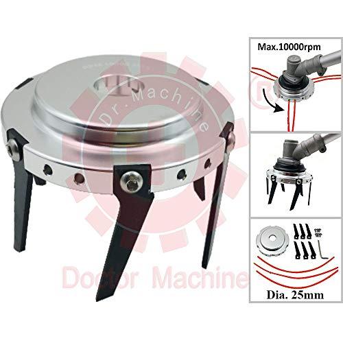 Doctor Machine Disco Fresa A Zappetta Universale 2 in 1 per Terreno Taglia Erba - Professionale per...