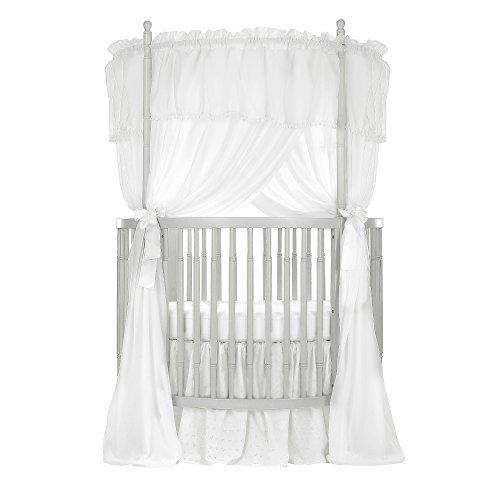 Dream On Me Sophia Posh Circular Crib, Silver Pearl, Full Size