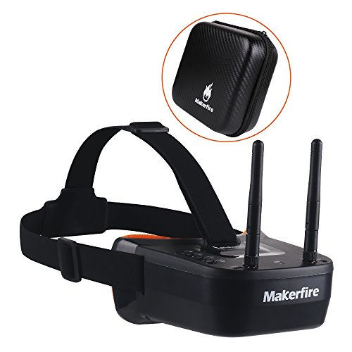 MakerStack 5.8Ghz Mini FPV Goggles Occhiali da 3 Pollici 40CH FPV Video Headset con Doppia Antenna...